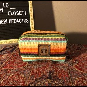 STS ranchwear Tularosa serape cosmetic bag clutch